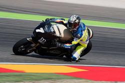 Loris Capirossi, prova una moto elettrica ad Aragon