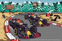 Red Bull Racing holiday card