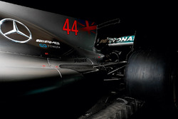 Mercedes AMG F1 W08 detalle de ala delantera