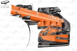 McLaren MCL32, naso della presentazione