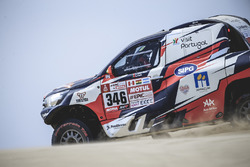 #346#  Andre Villas-Boas (PRT) of Overdive Toyota races during stage 1 of Rally Dakar 2018 from Lima to Pisco, Peru on January 6, 2018. // Flavien Duhamel/Red Bull Content Pool // P-20180107-00016 // Usage for editorial use only // Please go to www.redbullcontentpool.com for further information. //