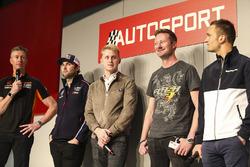 I campioni BTCC Matt Neal, Andrew Jordan, Ashley Sutton, Gordon Shedden e Colin Turkington sull'Autosport Stage