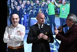 Armando Donazzan, Orange1 Racing owner Giorgio Sanna, Head of Lamborghini Squadra Corse, and Franco Nugnes, Motorsport.com Italia editor-in-chief