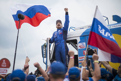 1. Eduard Nikolaev, Team KAMAZ Master celebrates his win