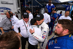 Chip Ganassi and Richard Westbrook celebrate their 1-2 finish with Chip Ganassi Racing team members