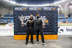 Mansour Chebli, and Khaled Al Qubaisi, with their trophies after ROC Factor Middle East