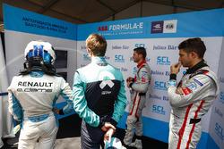 Nicolas Prost, Renault e.Dams, Luca Filippi, NIO Formula E Team, Edoardo Mortara, Venturi Formula E Team, Maro Engel, Venturi Formula E