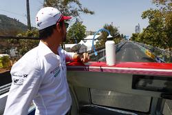 Lucas di Grassi, Audi Sport ABT Schaeffler tijdens de rijdersparade