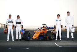 Стоффель Вандорн, Фернандо Алонсо, Ландо Норріс, Рюді ван Бюрен, McLaren
