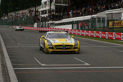 Race over; #19 Black Falcon Mercedes SLS AMG GT3: Andrii Lebed, Sergei Afanasiev, Andreas Simonsen,