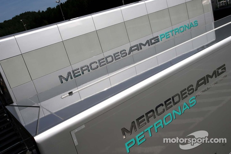 Mercedes GP trucks