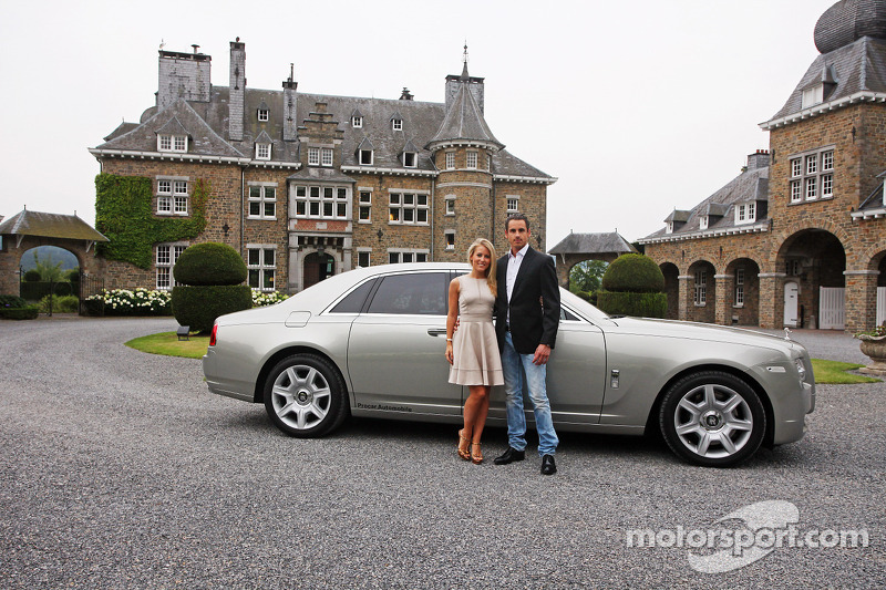 Adrian Sutil, Sahara Force India F1 met zijn vriendin Jennifer Becks,