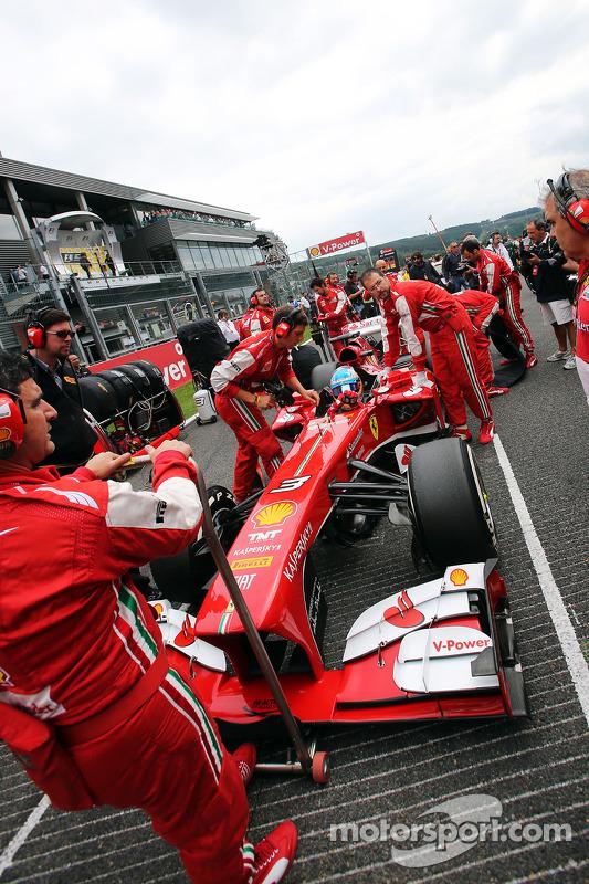 Fernando Alonso, Ferrari no grid