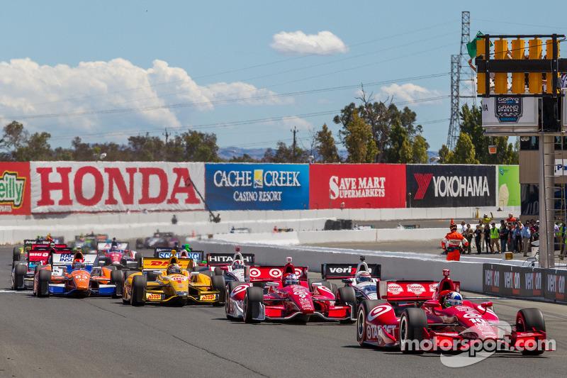 Race start at Sonoma Raceway