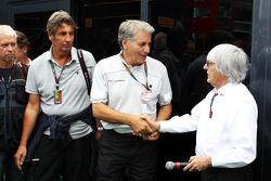 Bernie Ecclestone, CEO Formula One Group, with Franco Scandinaro