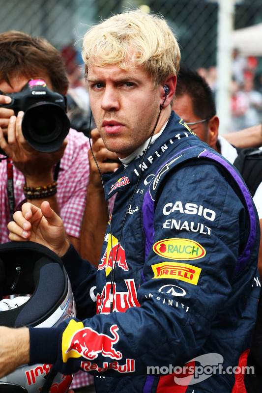 Sebastian Vettel, Red Bull Racing no grid
