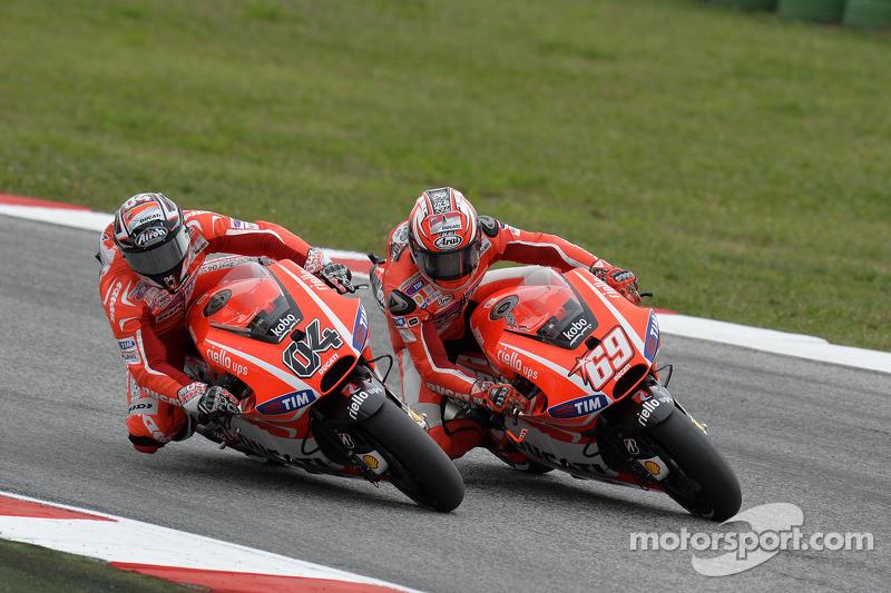 Andrea Dovizioso and Nicky Hayden, Ducati Team