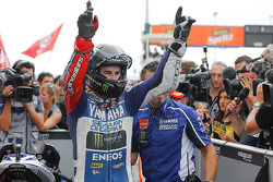 Race winner Jorge Lorenzo, Yamahaa Factory Racing