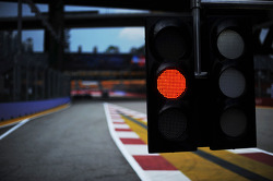 Pit lane exit light