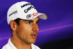 Adrian Sutil, Sahara Force India F1 bij de FIA-persconferentie