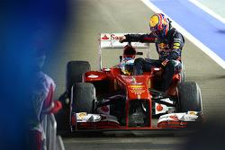 Fernando Alonso, Ferrari and Mark Webber, Red Bull Racing