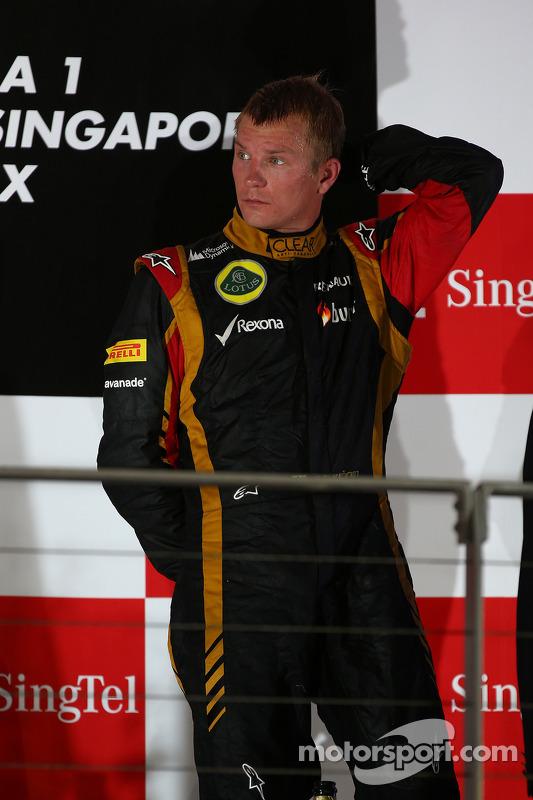 terceiro colocado Kimi Raikkonen, Lotus F1 Team