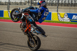 Stunt bike demo during pre-race