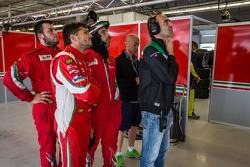 Giancarlo Fisichella and Amato Ferrari