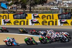 Superbike race start