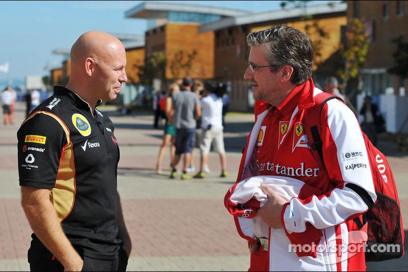 (L naar R): Mark Arnall, Personal Trainer met Pat Fry, Ferrari Deputy Technical Director en Head of Race Engineering