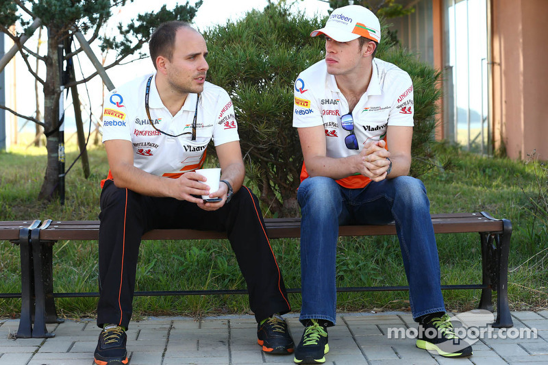 (L to R): Gianpiero Lambiase, Sahara Force India F1 Engineer with Paul di Resta, Sahara Force India