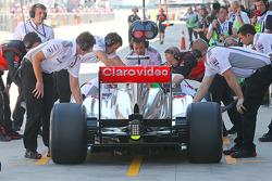 Jenson Button, McLaren MP4-28 rear diffuser