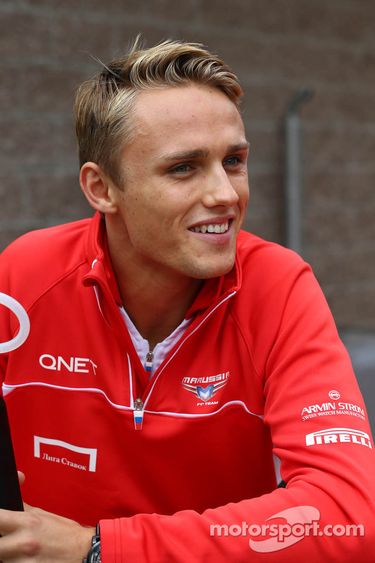 Max Chilton, Marussia F1 Team no desfile de pilotos