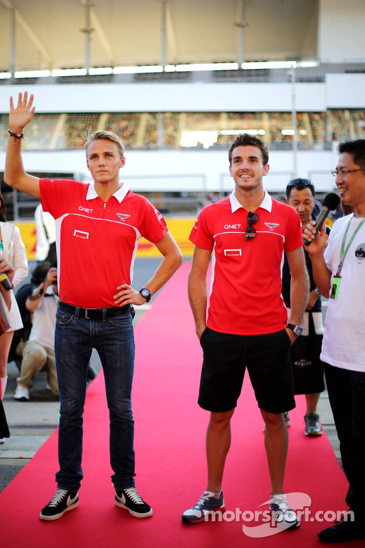 Max Chilton, Marussia F1 Team e Jules Bianchi, Marussia Formula One Team