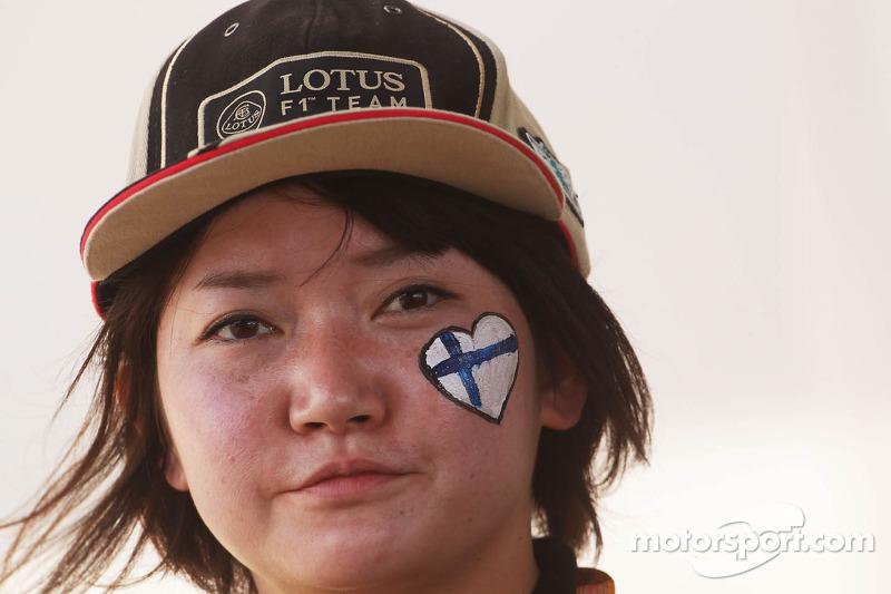 Een Kimi Raikkonen, Lotus F1 Team fan