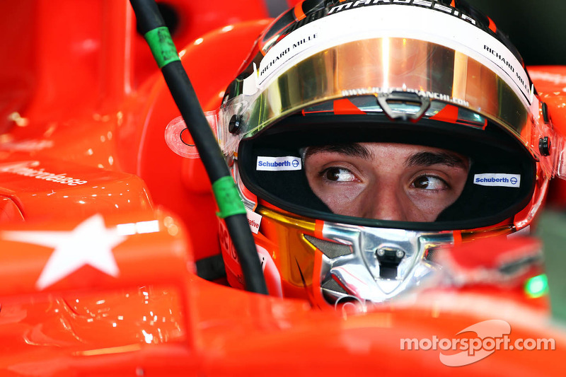 Jules Bianchi, Marussia F1 Team MR02 with a tribute on the wing mirror to the memory of Maria De Villota