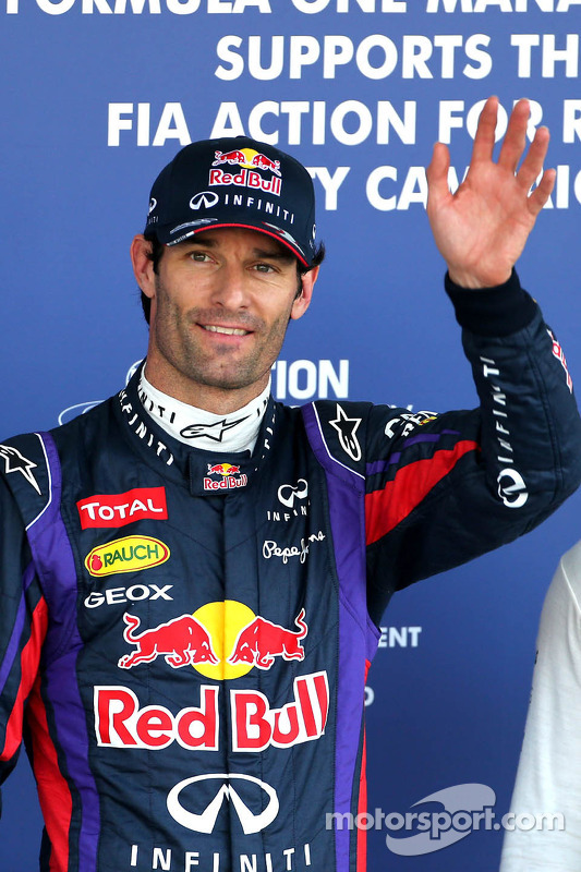 Pole position for Mark Webber, Red Bull Racing