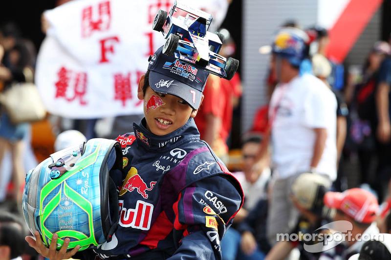 Een Red Bull Racing fan