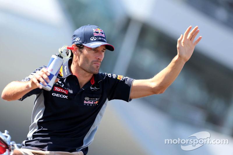 Drivers parade, Mark Webber, Red Bull Racing