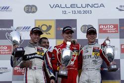 Podium: 2e plaats Alexander Sims, 1e plaats Raffaele Marciello, 3e plaats Alex Lynn