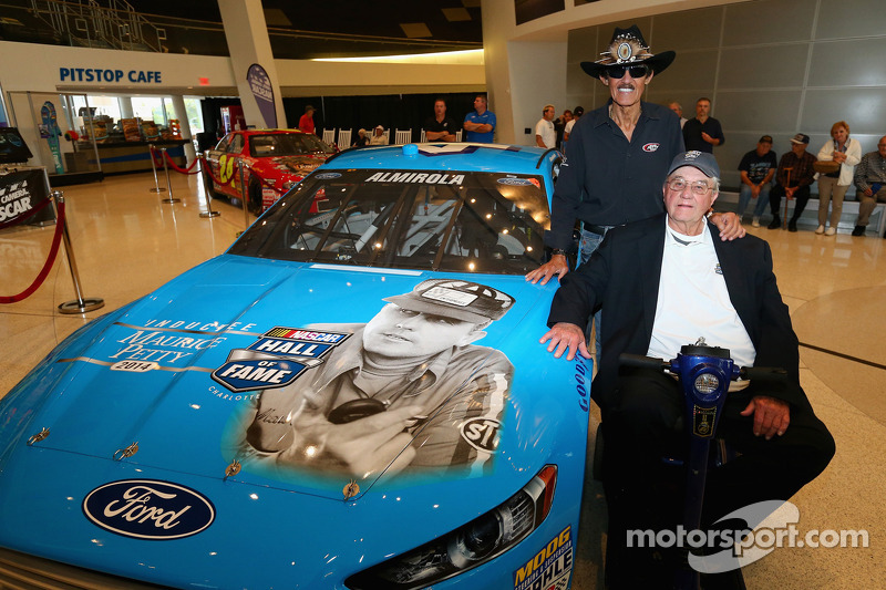 2014 NASCAR Hall of Fame inductee Maurice Petty met Richard Petty