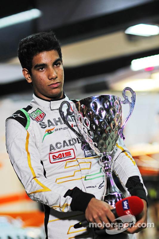 Jehan Daruvala, Academa de pilotos da Sahara Force India,  vencedor do campeonato britânico de Kart KF3