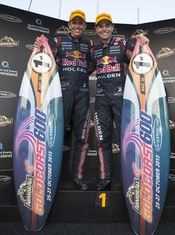 Os vencedores Craig Lowndes e Warren Luff