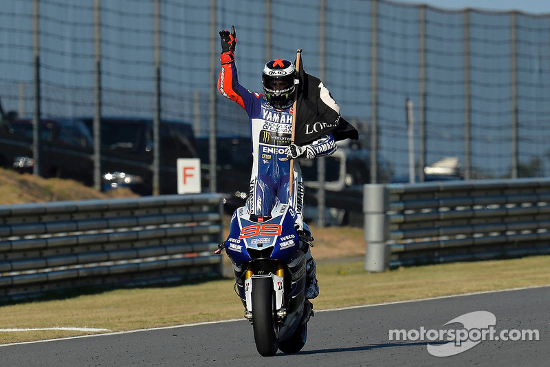 Ganador de la carrera Jorge Lorenzo