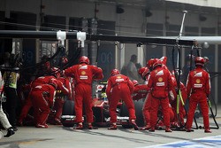 Felipe Massa, Ferrari F138 makes a pit stop