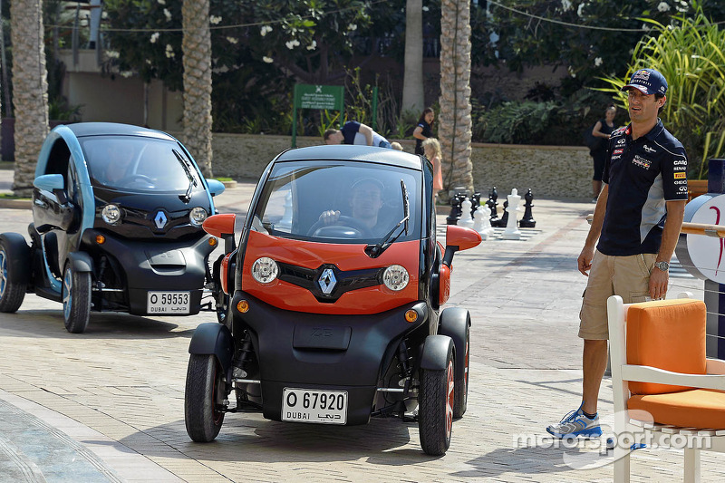Charles Pic and Mark Webber drive the all-electric Renault Twizy