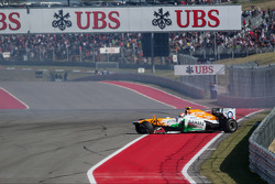 Adrian Sutil, Sahara Force India VJM06 abandonne sur accident