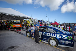 Hendrick Motorsports Chevrolet of Jimmie Johnson at tech inspection