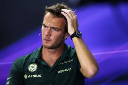 Giedo van der Garde, Caterham F1 Team na coletiva de imprensa da FIA