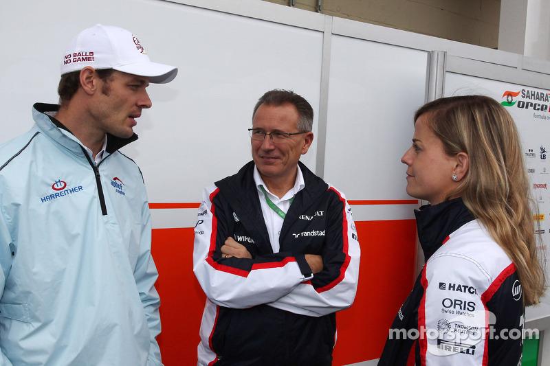 Alex Wurz, Williams Driver Mentor, met Susie Wolff, Williams Development Driver